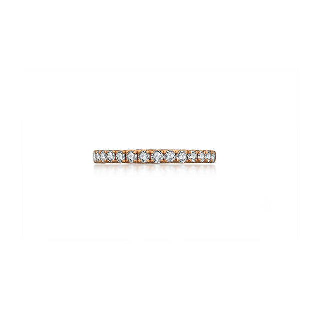 18k Gold Line Diamond Ring - Genevieve Collection