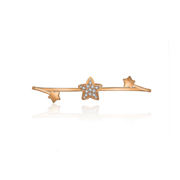 18k Gold Starry Night Diamond Double Ring - Genevieve Collection