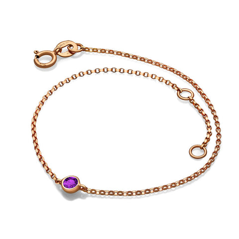 February Birth Stone Amethyst Bracelet