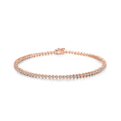 18k Gold White Diamond All The Way Bracelet - Genevieve Collection