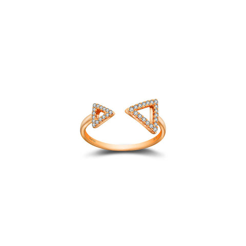 Double Arrow Diamond Ring