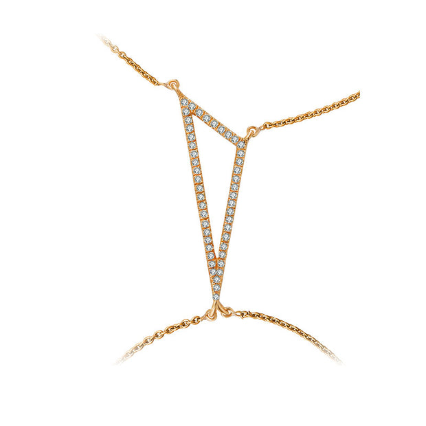 18k Gold Triangle Shape 2 Way Diamond Bracelet - Genevieve Collection