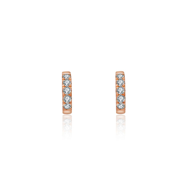 18k Gold Hoop Diamond Earring