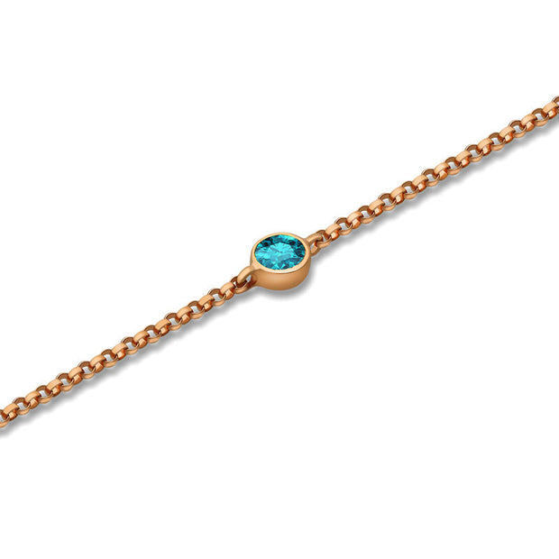 18k Gold December Birth Stone Topaz Bracelet - Genevieve Collection