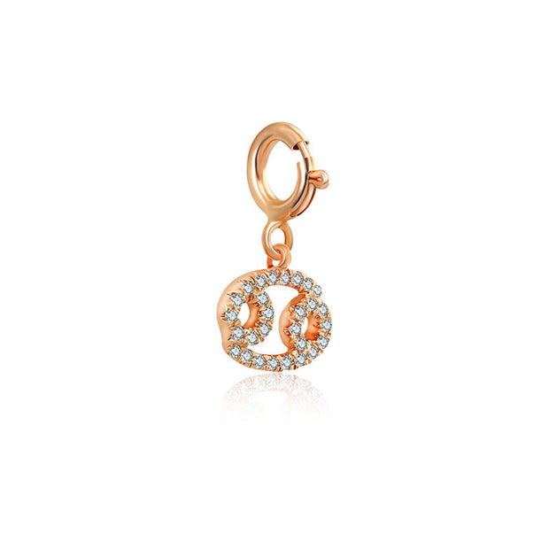 18k Gold Cancer Zodiac Sign Diamond Charms - Genevieve Collection