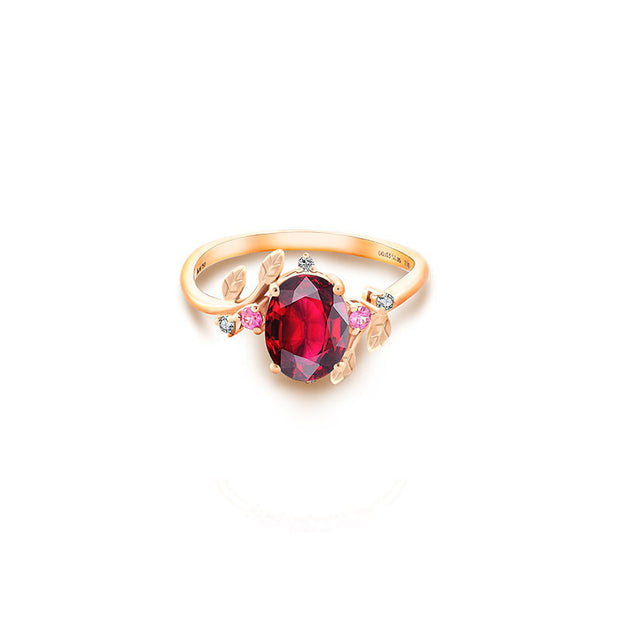 18k Gold Petite Fleur Ring - Genevieve Collection