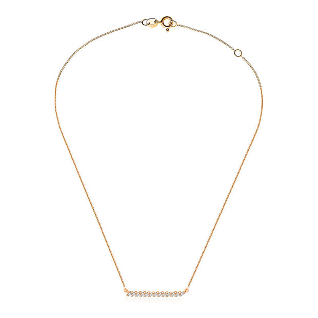 18k Gold Line Diamond Necklace - Genevieve Collection