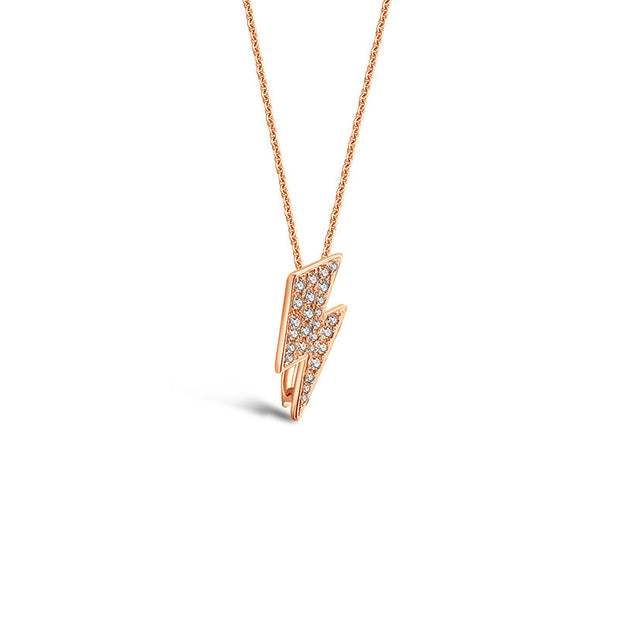 18k Gold 2 ways Lightning Diamond Necklace - Genevieve Collection