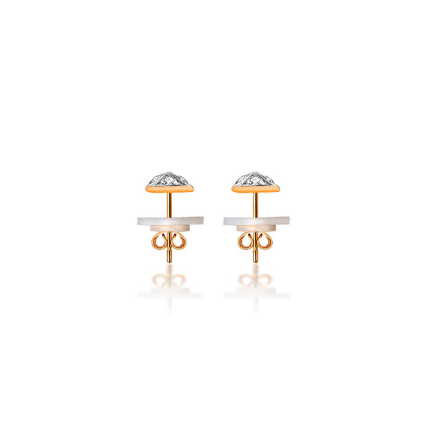18k Gold Rhombus Shape Diamond Earring - Genevieve Collection