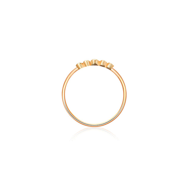 18k Gold Polka Dot Diamond Ring - Genevieve Collection