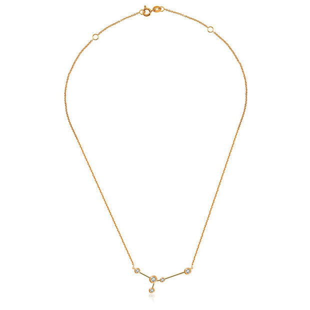 18k Gold Cancer Diamond Necklace - Genevieve Collection