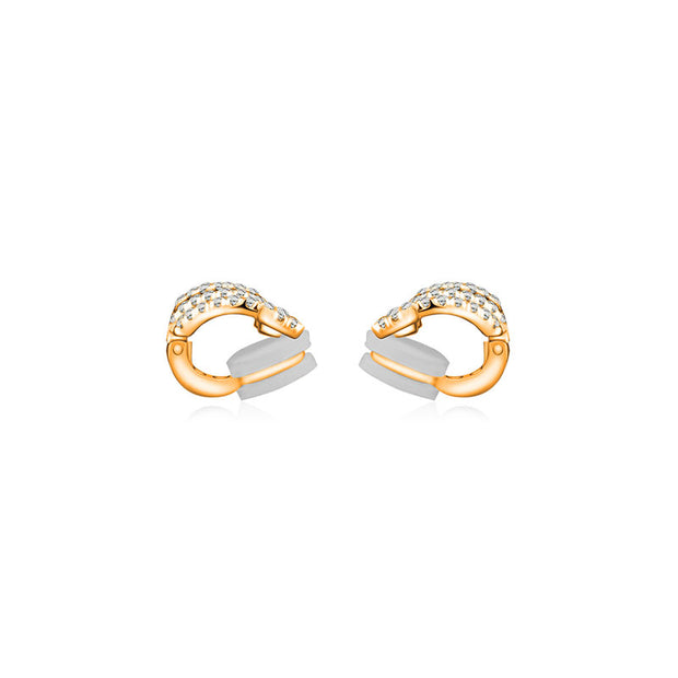 18k Gold Curve with Arrow Diamond Ear Cuff - Genevieve Collection