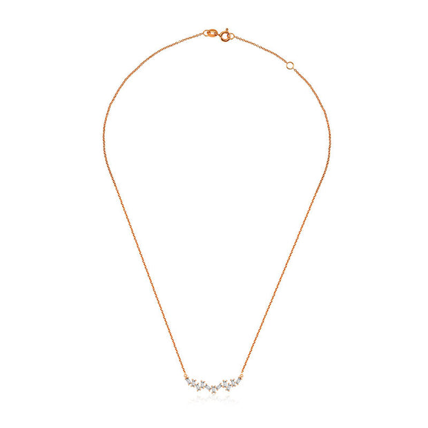 18k Gold Irregular Shape Diamond Necklace - Genevieve Collection