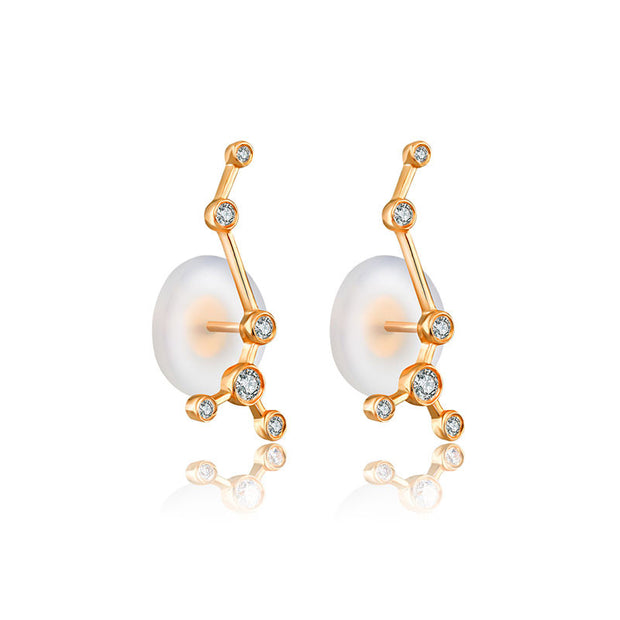 18k Gold Scorpio Diamond Earring - Genevieve Collection
