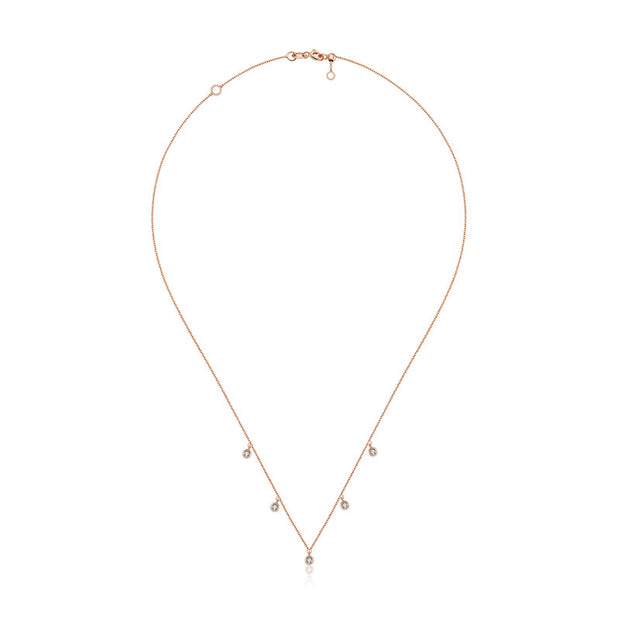 18k Gold By the Yard Diamond Necklace - Genevieve Collection