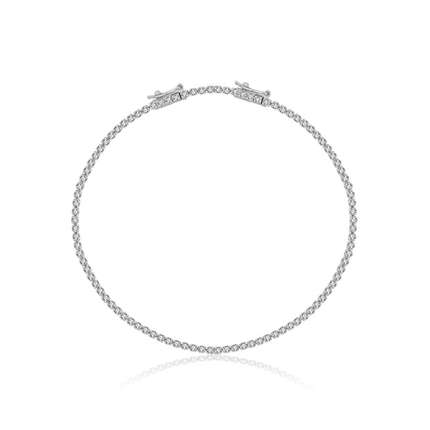 18K Gold 1.2 Carat Tennis Diamond Bracelet - Genevieve Collection