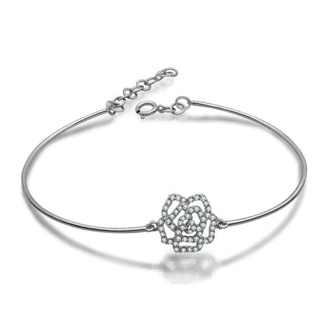 Diamond Rose Bangle