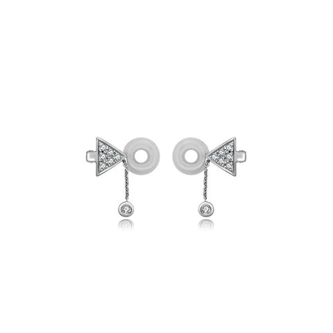 Triangle Dangling Diamond Ear Cuff