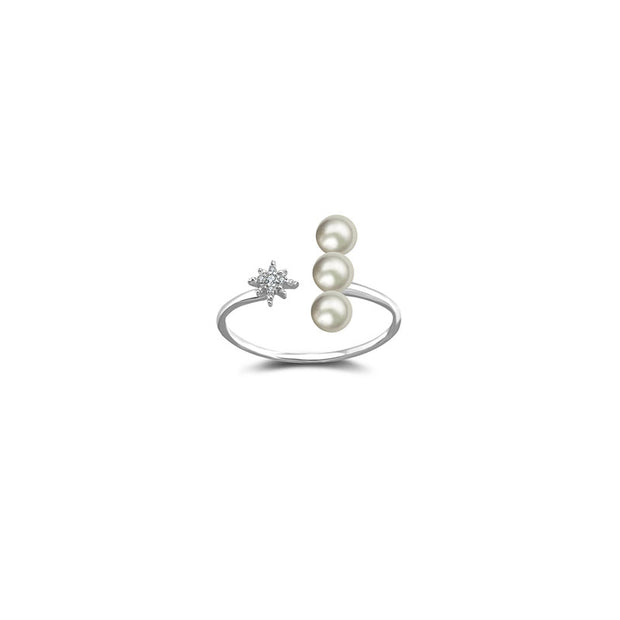 Pearl Necklace & Ring Bundle - Genevieve Collection