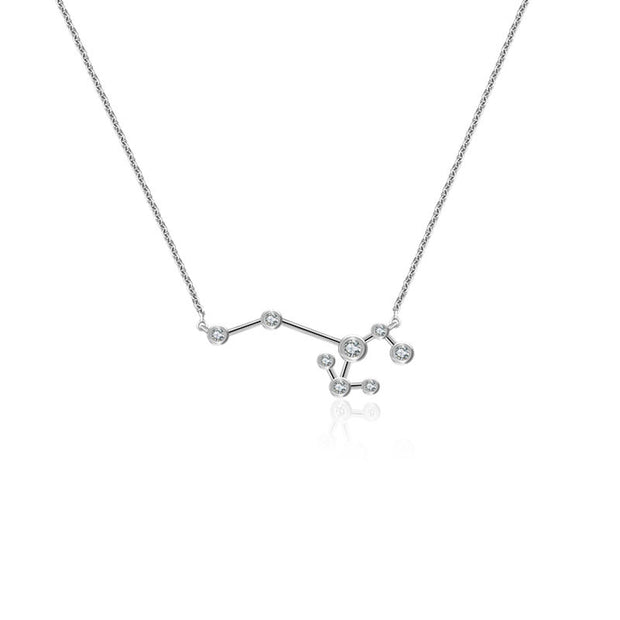 18k Gold Sagittarius Diamond Necklace - Genevieve Collection