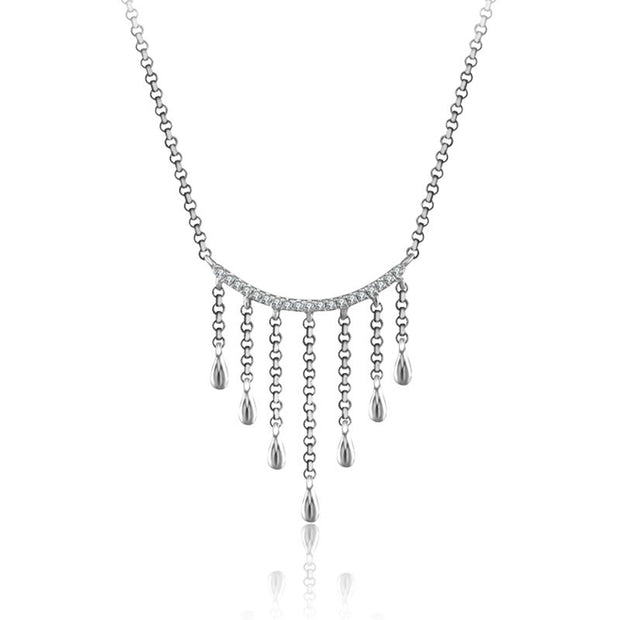 18k Gold Gold and Diamond Threads Diamond Necklace - Genevieve Collection
