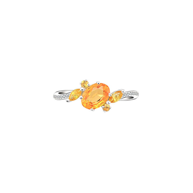 18k Gold Sapphire Passion Ring - Genevieve Collection