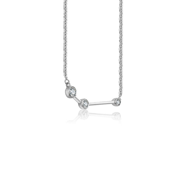 Aries Zodiac Constellation Necklace 18k Gold & Diamond - Genevieve Collection