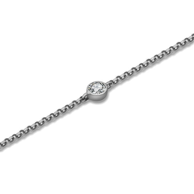 18k Gold April Birthstone Diamond Bracelet - Genevieve Collection