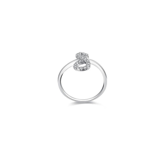 18k Gold Infinity Diamond Ring - Genevieve Collection
