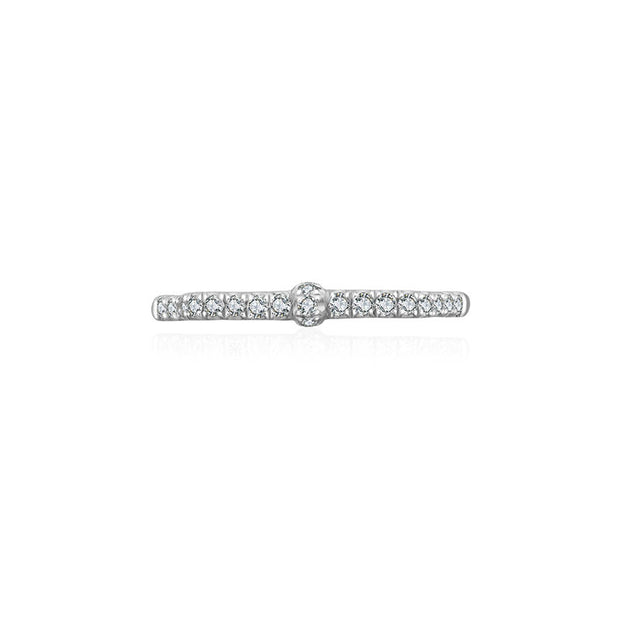 18k Gold Ribbon Diamond Ring - Genevieve Collection