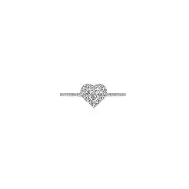 18k Gold Heart Shape Diamond Ring