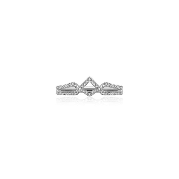 18k Gold Rhombus Shape Diamond Ring