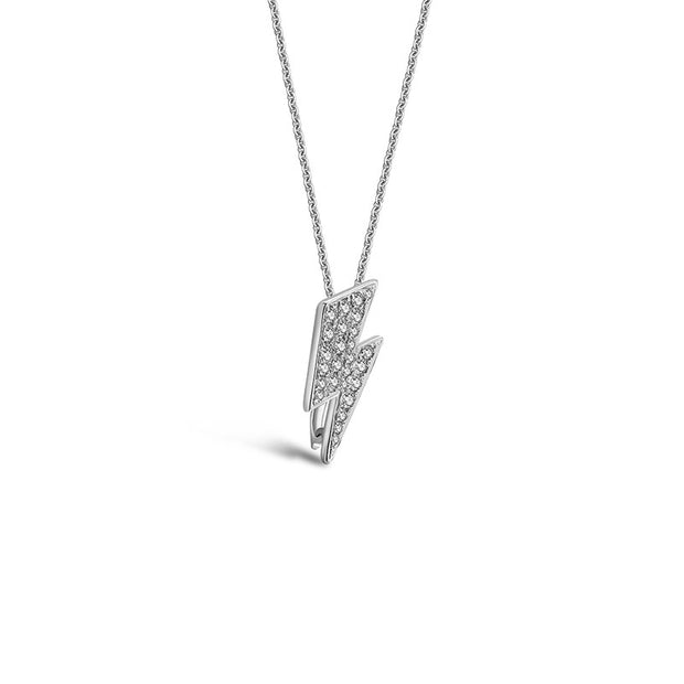 18k Gold 2 ways Lightling Diamond Necklace - Genevieve Collection