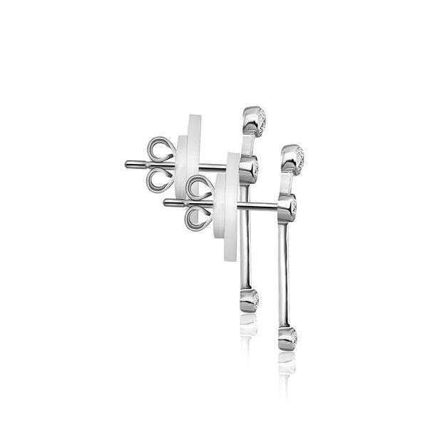 Aries Zodiac Constellation Earring 18k Gold & Diamond - Genevieve Collection