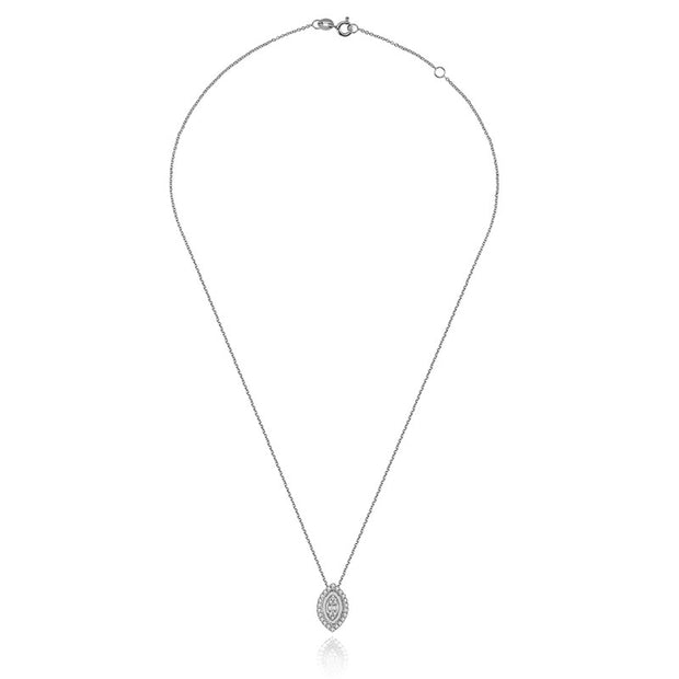18k Gold 2 ways Marquise Diamond Necklace - Genevieve Collection