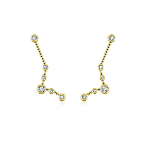 Pisces Diamond Earring