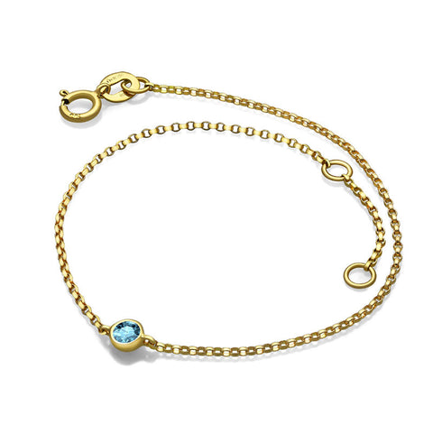 March Birth Stone Aquamarine Bracelet