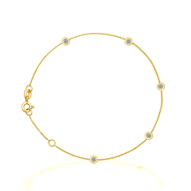 18k Gold By The Yard Diamond Bracelet - Genevieve Collection