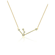 18k Gold Aquarius Diamond Necklace - Genevieve Collection