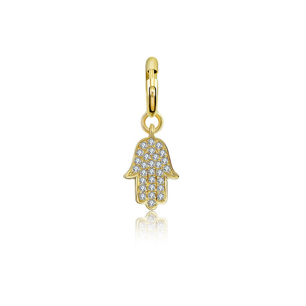 18k Gold Hand Shape Diamond Charms - Genevieve Collection