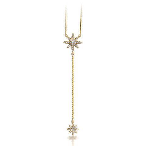 Star Dangling Diamond Necklace