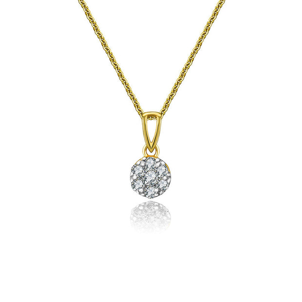 18k Gold Gold Hollow Arrow Diamond Necklace - Genevieve Collection