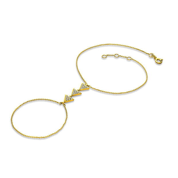 18k Gold Arrow Shape 2 Way Diamond Bracelet - Genevieve Collection