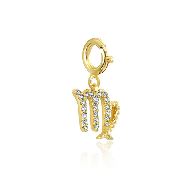 18k Gold Virgo Zodiac Sign Diamond Charms - Genevieve Collection