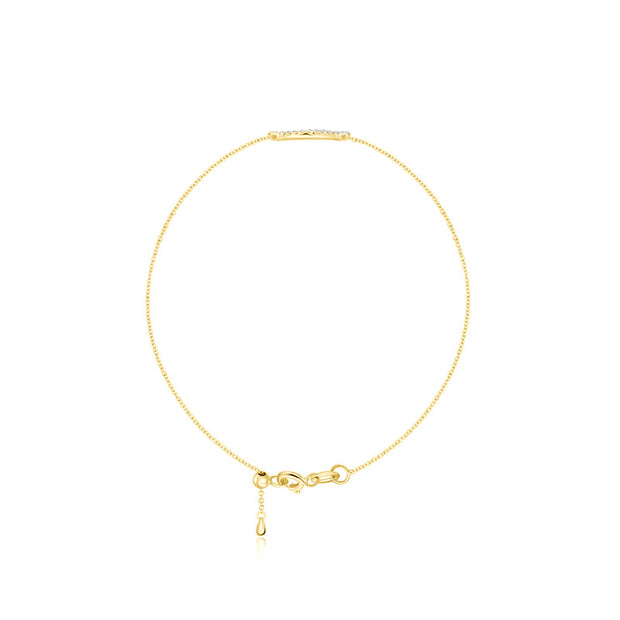 18k Gold Eyelash Shape Diamond Bracelet