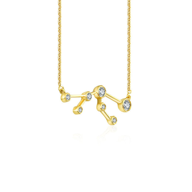18k Gold Taurus Diamond Necklace - Genevieve Collection