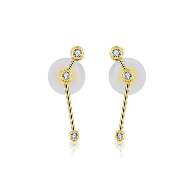 18k Gold Aries Diamond Earring - Genevieve Collection