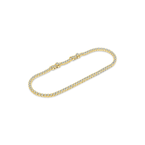 18K Gold 2.3 Carat Tennis Diamond Bracelet - Genevieve Collection