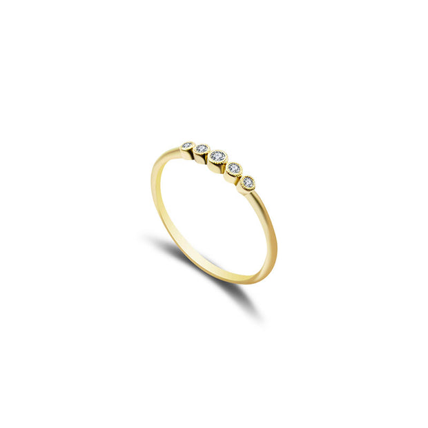 18k Gold Polka Dot Diamond Ring