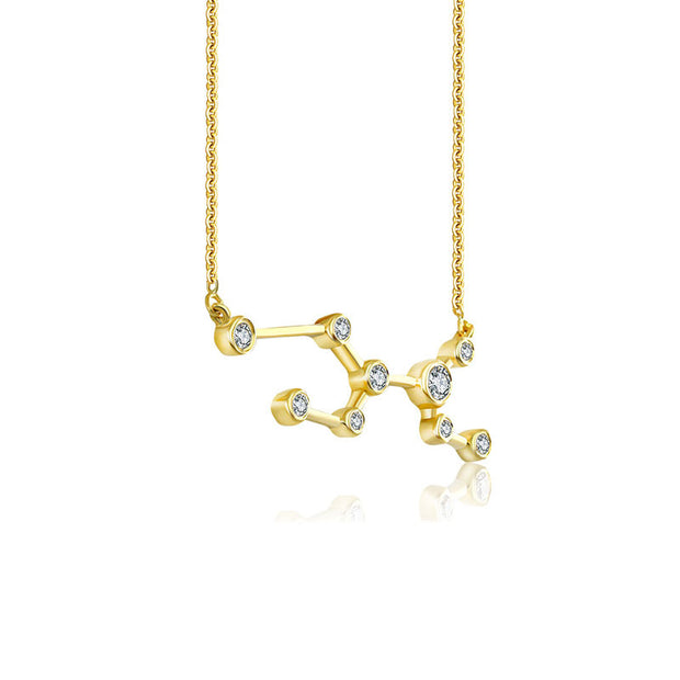 18k Gold Virgo Diamond Necklace - Genevieve Collection